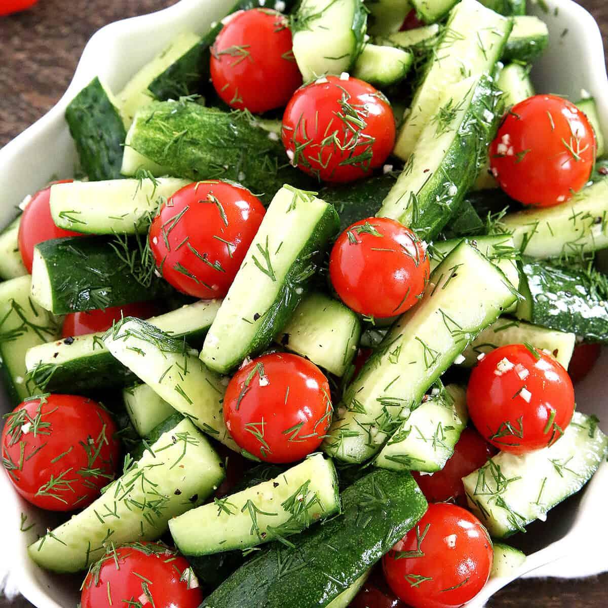 Garden fresh veggie salad