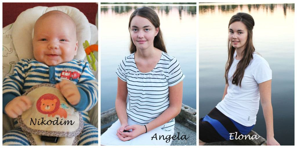 Nikodim, Angela, Elona - my family