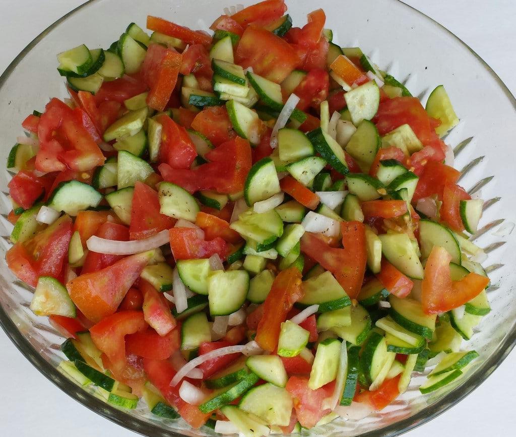 Cucumbers/Tomatoes/Onion Salad +Giveaway
