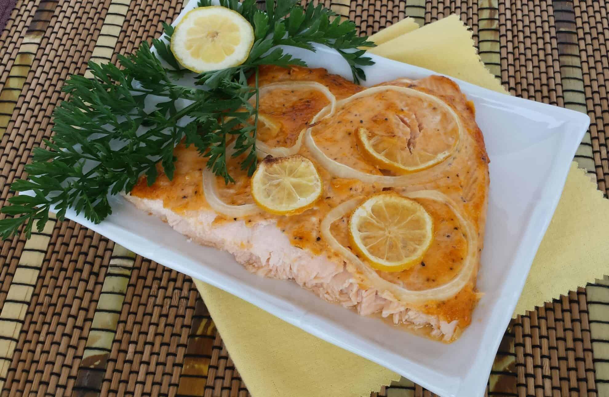 Lemon Pepper Baked Salmon
