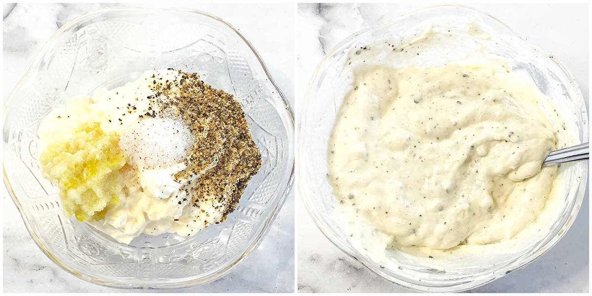 How to make mayonnaise mixture