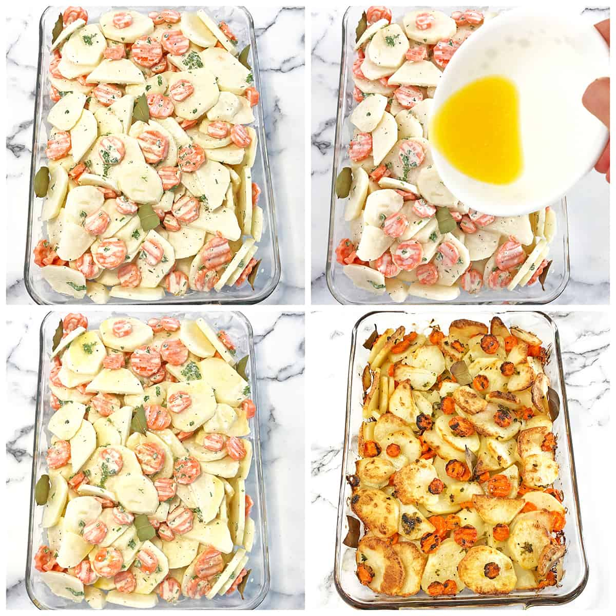 Scalloped Potatoes with Carrots Baking Instructions