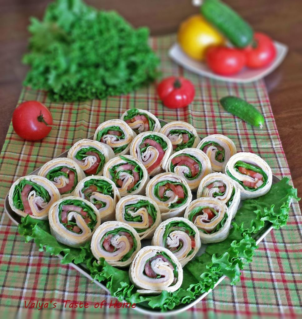 Turkey Pinwheels Appetizers