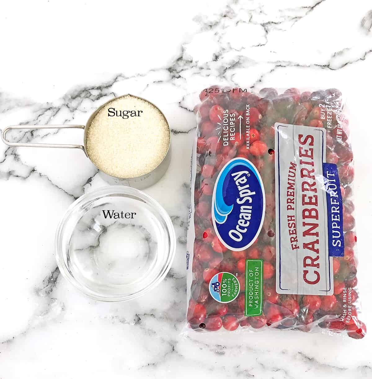 Ingredients for the Cranberry Sauce