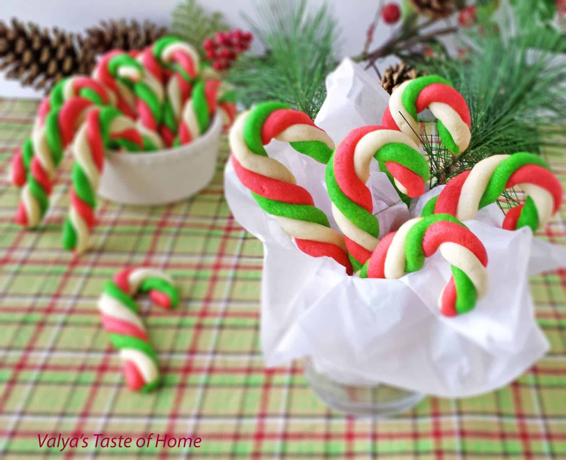 Candy Cane Cookie House Cookies