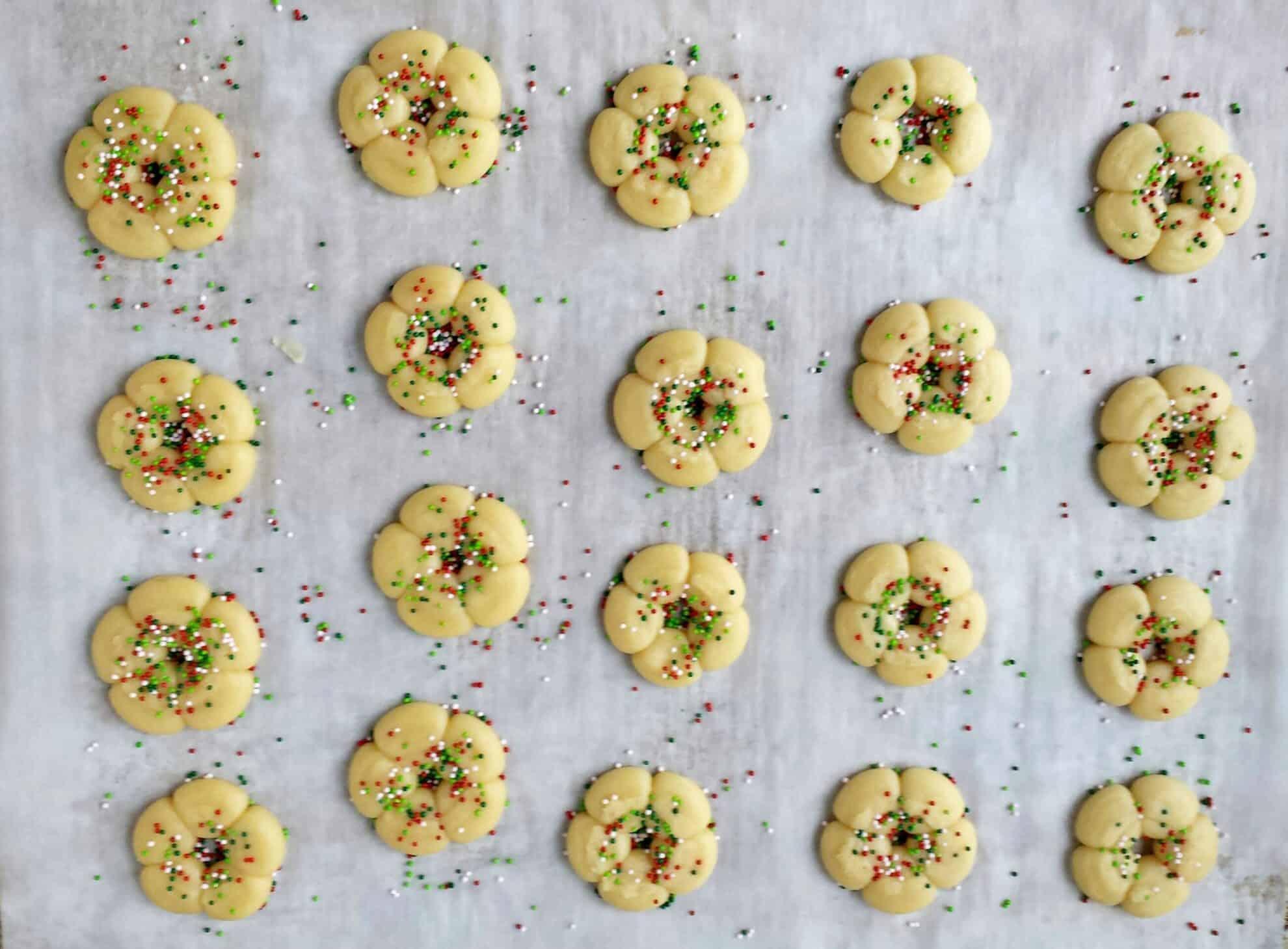 Christmas Spritz Cookies - Valya\'s Taste of Home