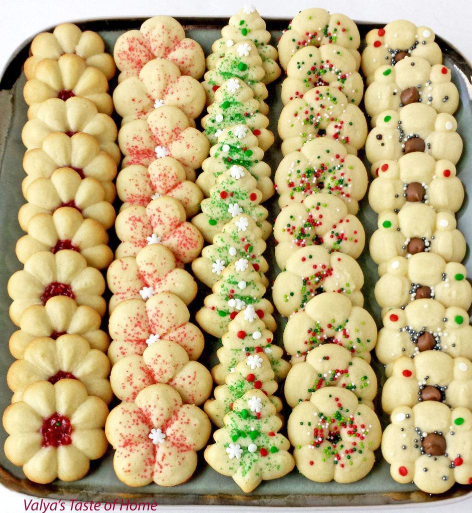 Christmas Spritz Cookies - Valya's Taste of Home