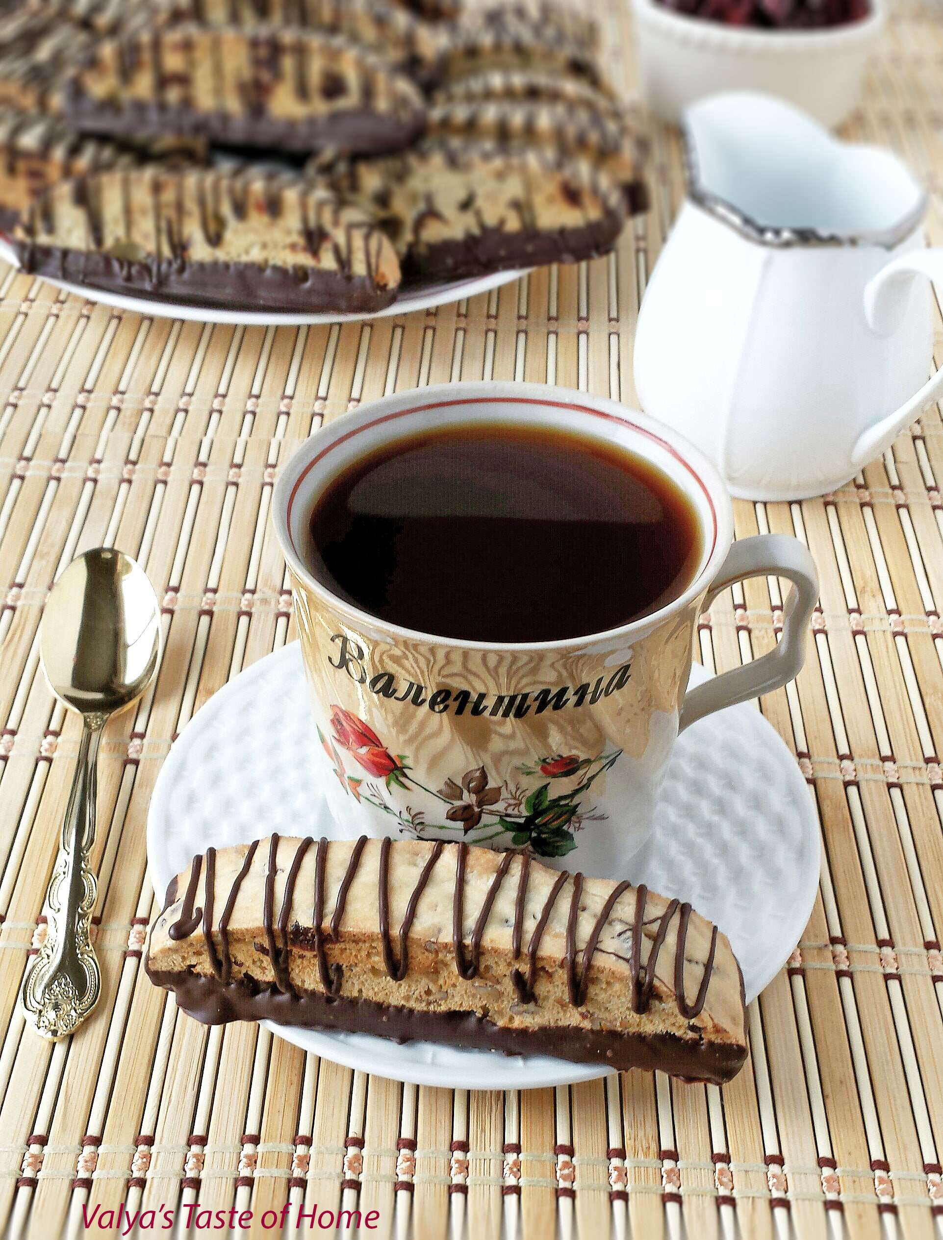 Dark Chocolate Cranberry and Pecan Biscotti