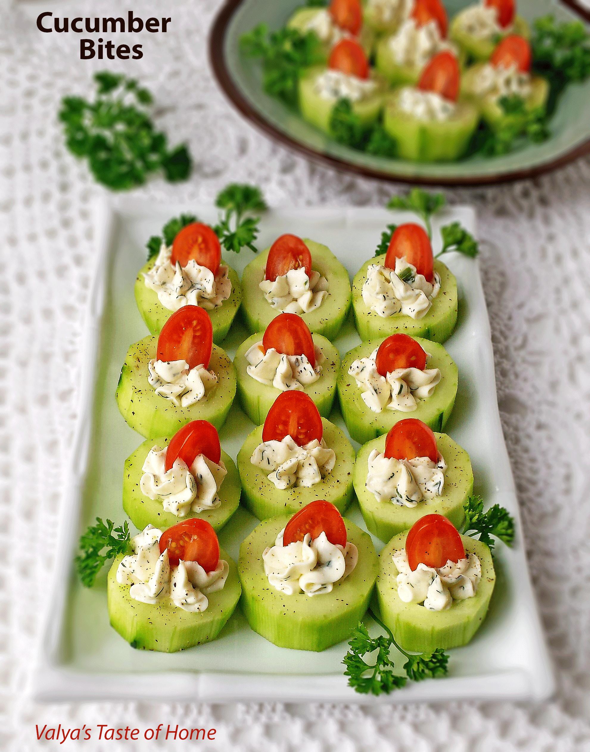 Cucumber Bites Appetizers Valya S Taste Of Home