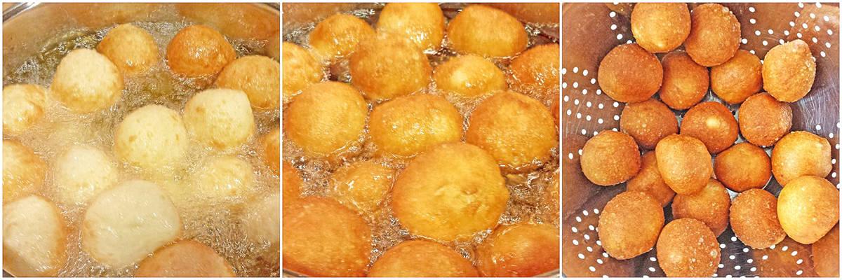 Cherry Filled Donut Holes (Ponchiki)