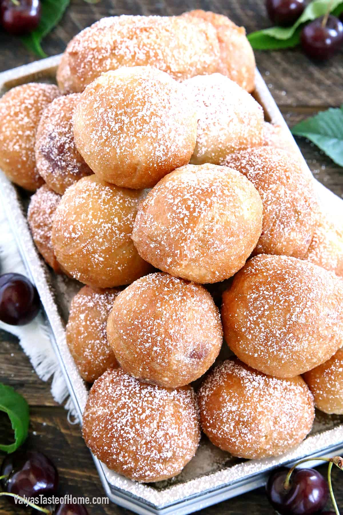 I'm not a big fan of frying and try to avoid it as much as possible. I have very few recipes that require frying. However, this Cherry Filled Donut Holes (Ponchiki) recipe is absolutely worth it.