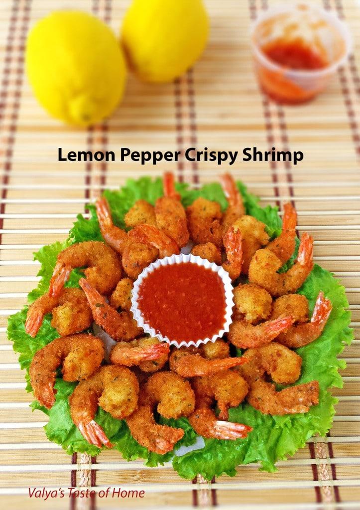 Lemon Pepper Crispy Shrimp