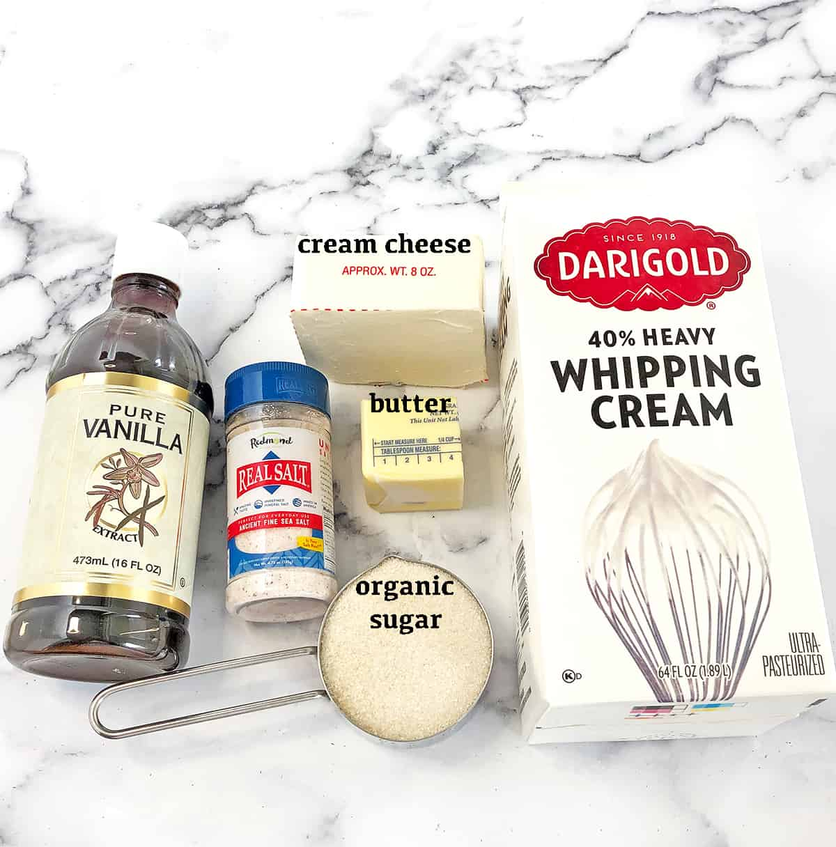 Cinnamon Rolls Frosting Ingredients