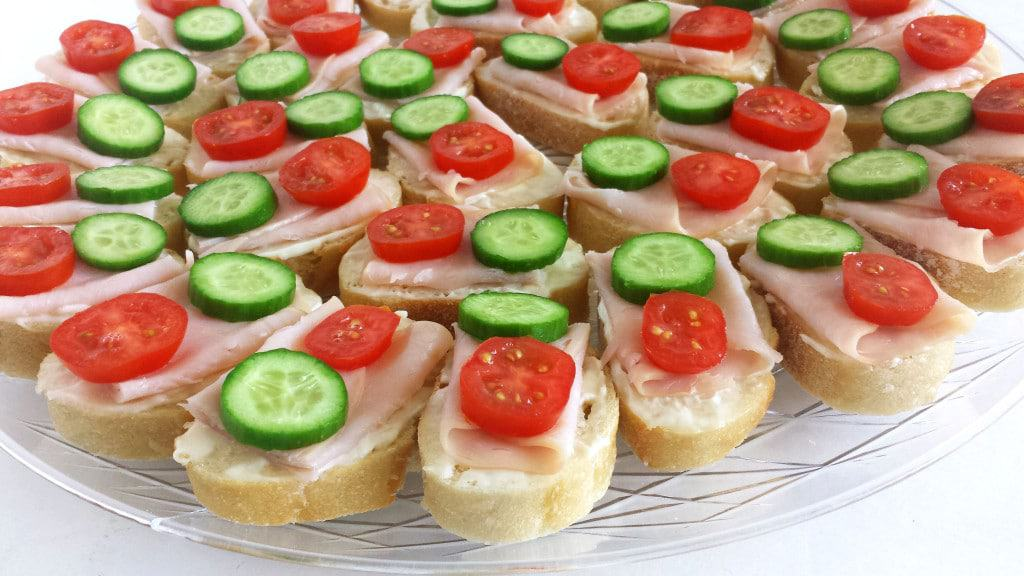 Smoked Turkey Canapes