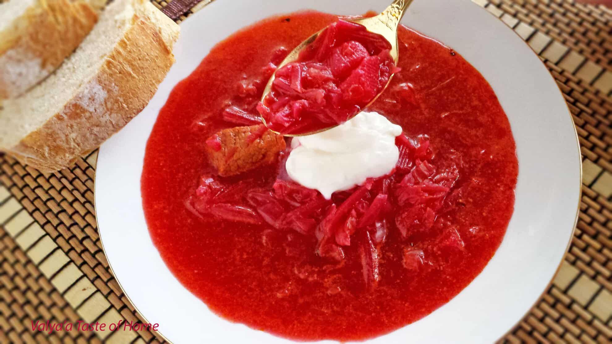 Борщ белорусский рецепт пошагово в