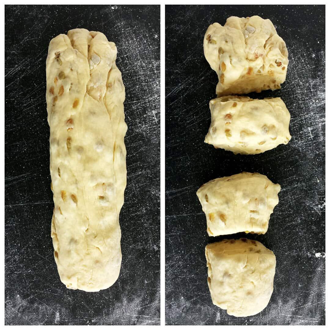 Sweet Braided Ester Bread with Raisins