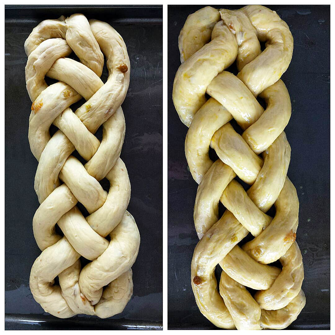 Braiding the Raisin Ester Bread