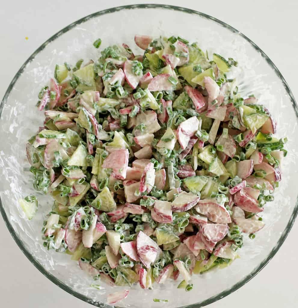 Chives, Radish, and Cucumber Salad Recipe