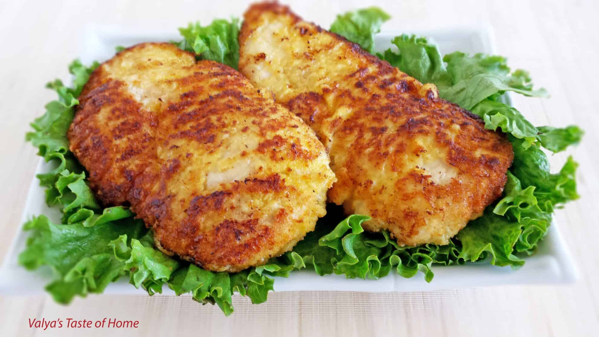 Breaded Parmesan Chicken Breast - Valya's Taste of Home