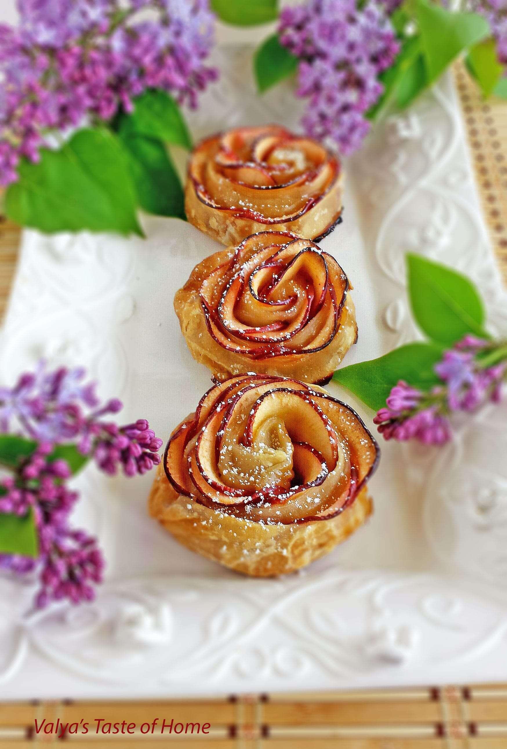 Apple Roses Dessert Recipe - Valya's Taste of Home