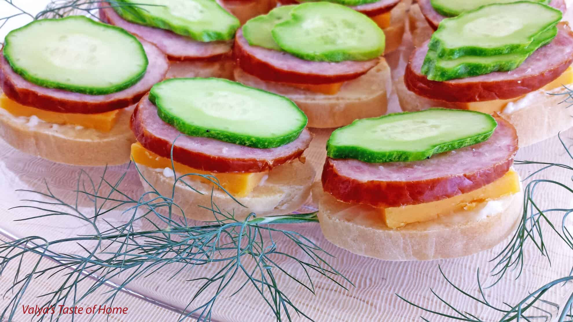 Tea canap s appetizers valya 39 s taste of home for Canape with ingredients