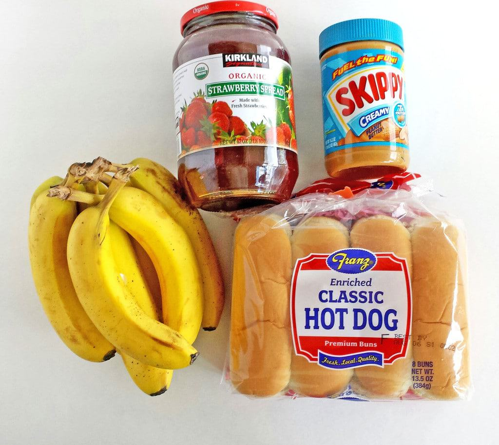 Peanut Butter and Jelly Hotdog Snacks
