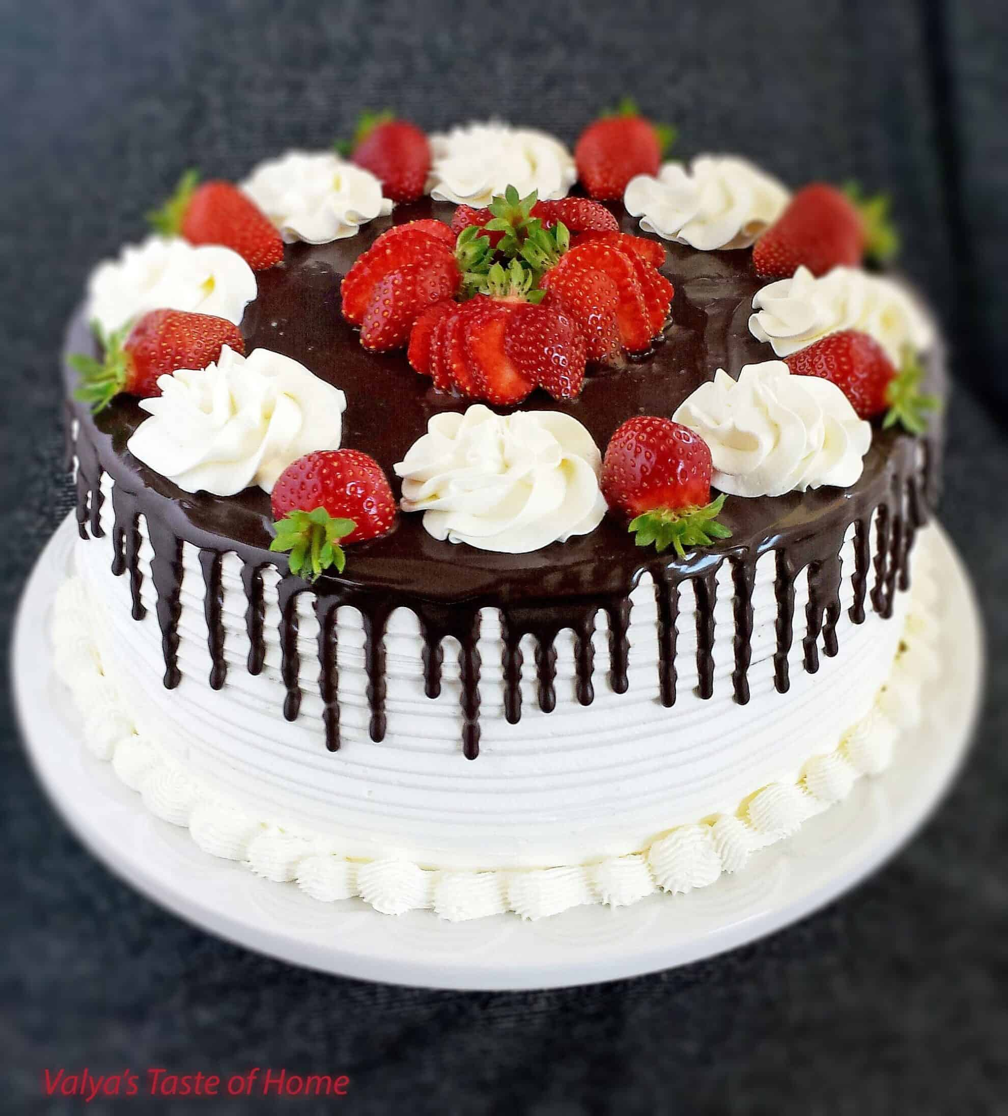 honey chocolate and strawberry cake valya s taste of home