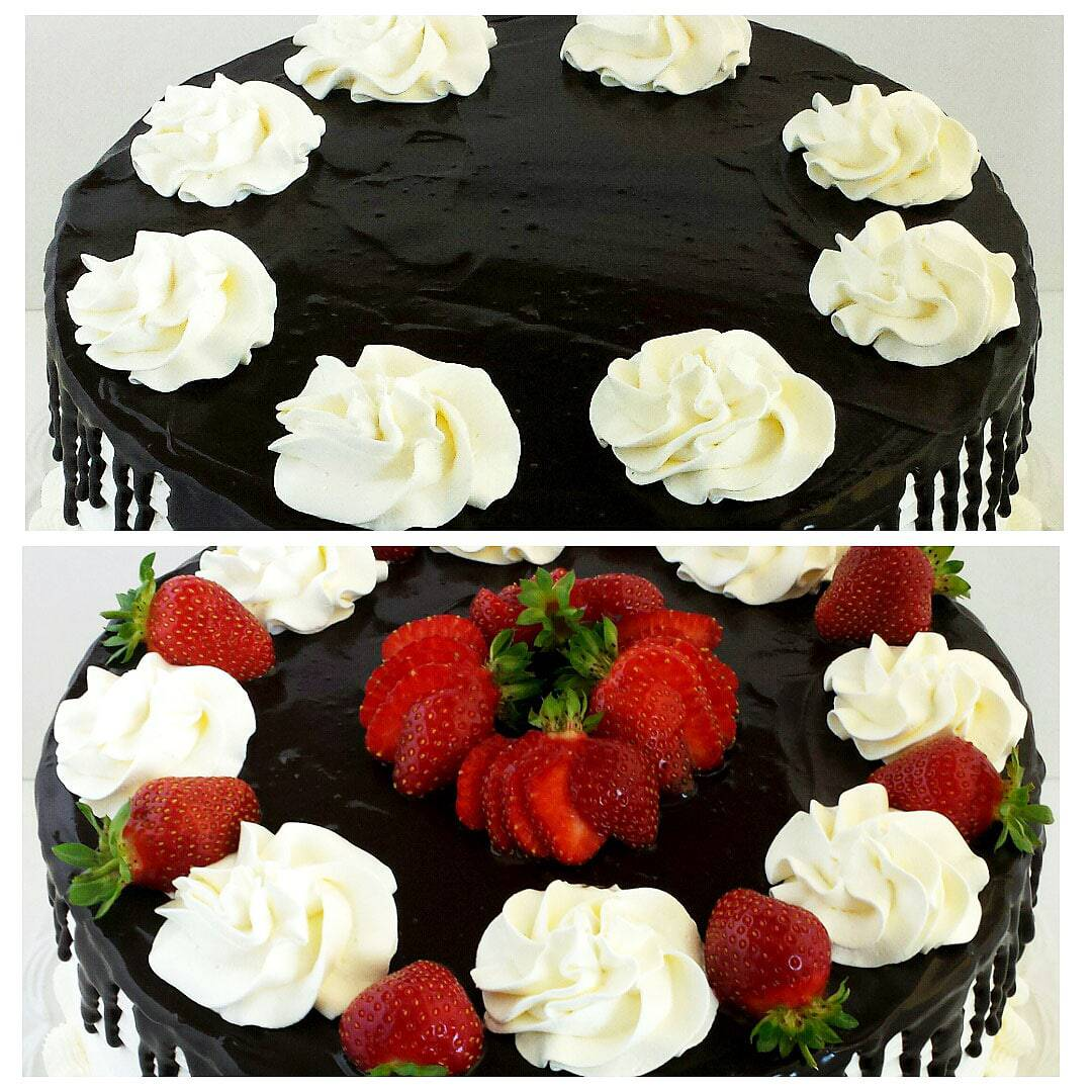Honey Chocolate And Strawberry Cake Valya S Taste Of Home