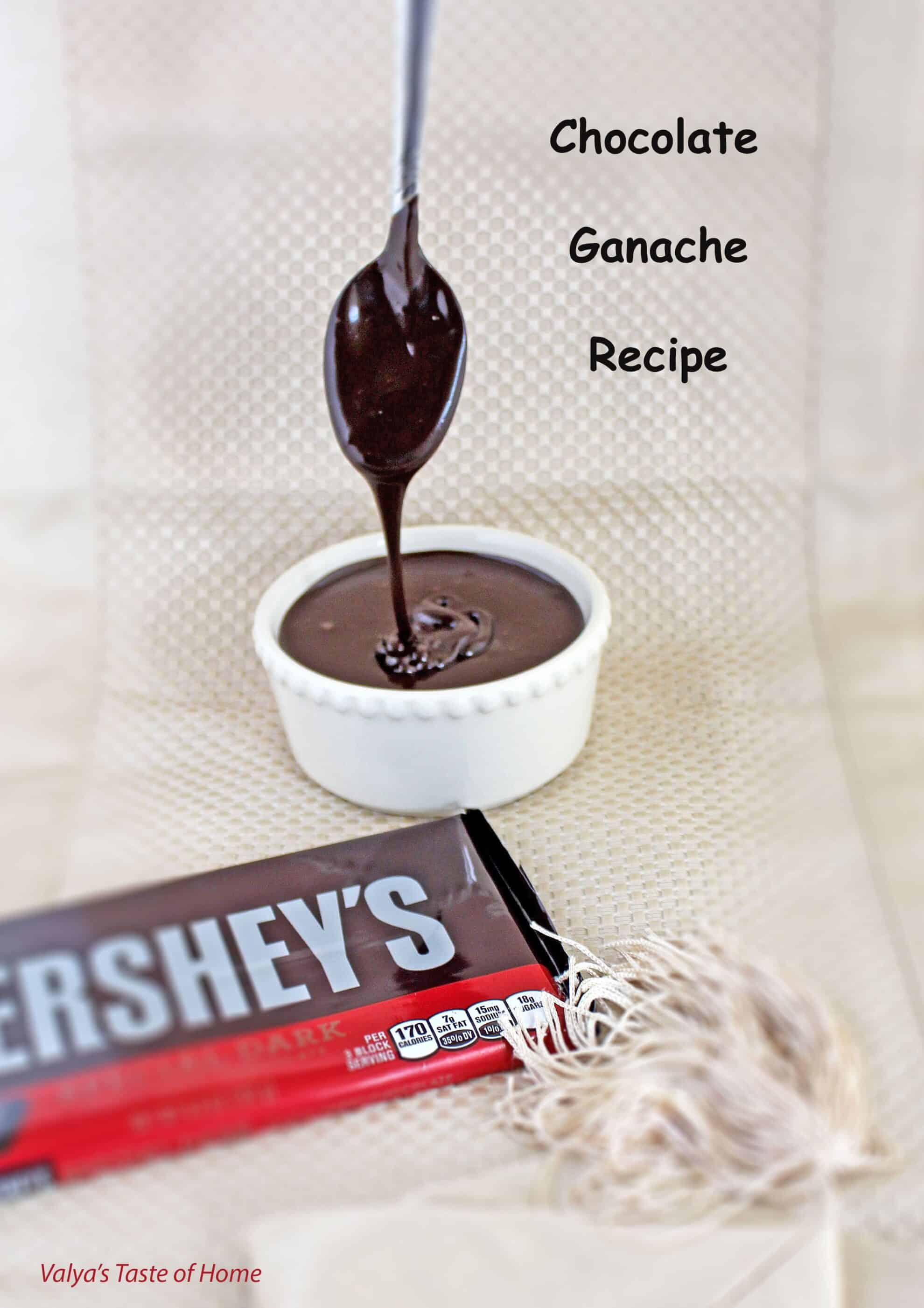 Simple Chocolate Ganache Recipe - Valya's Taste of Home