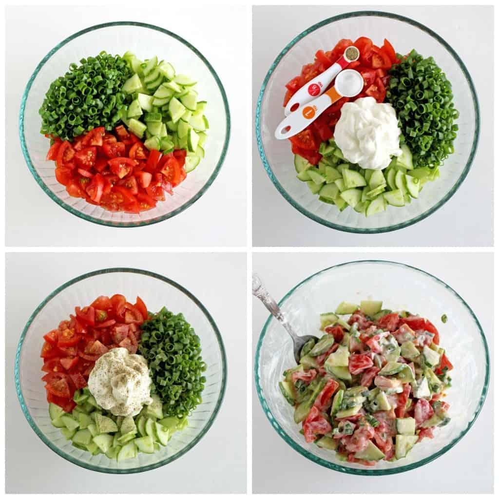 Creamy Cucumber and Tomato Salad