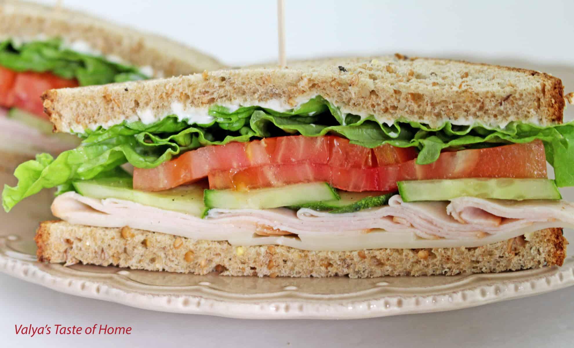 Turkey sandwich recipe valya 39 s taste of home for Thanksgiving turkey sandwich recipe