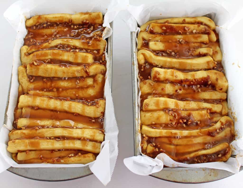 Pumpkin Pull-apart Bread with Pecans and Caramel