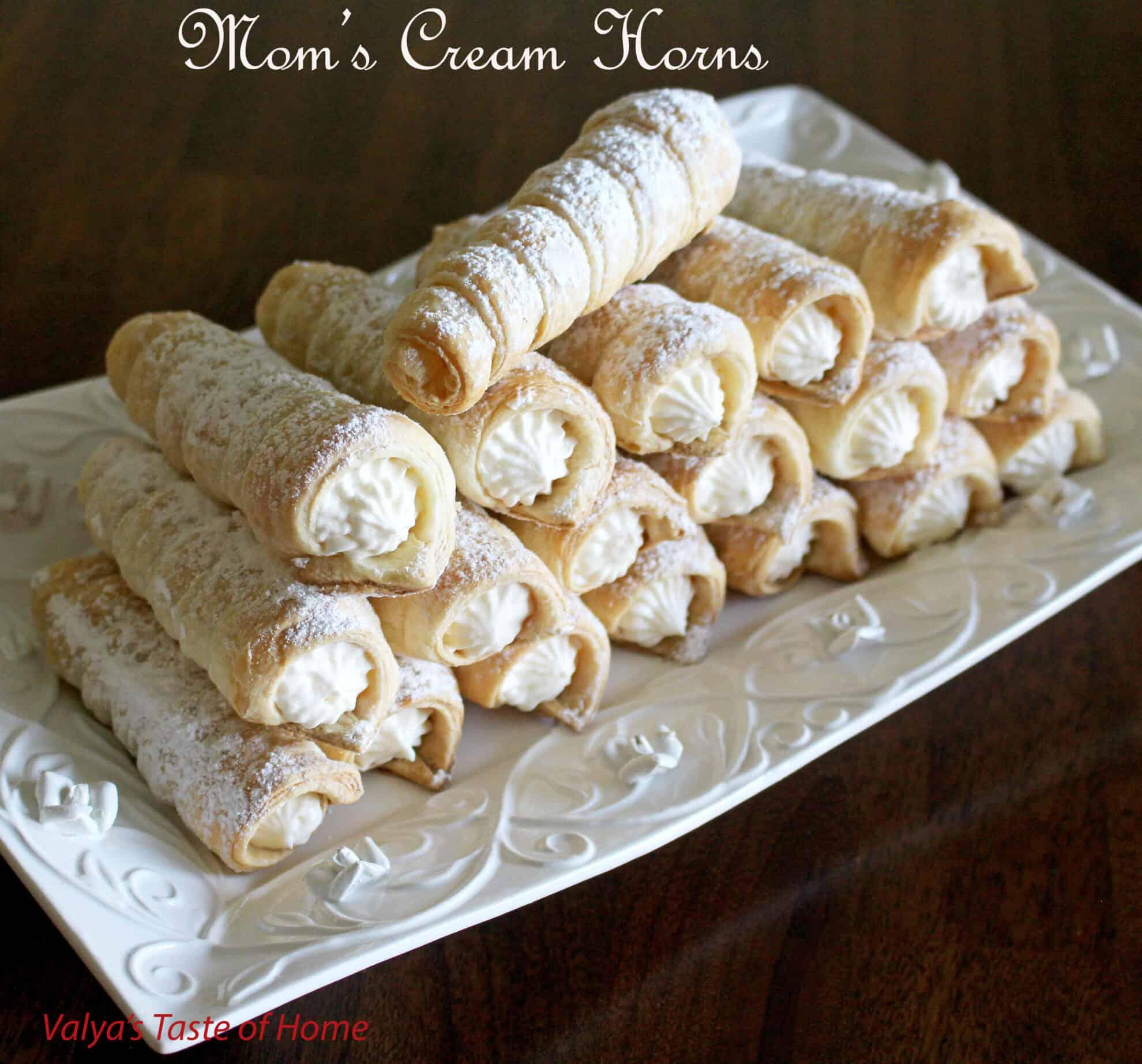 Mom's Cream Horns - Valya's Taste of Home Horns Recipe