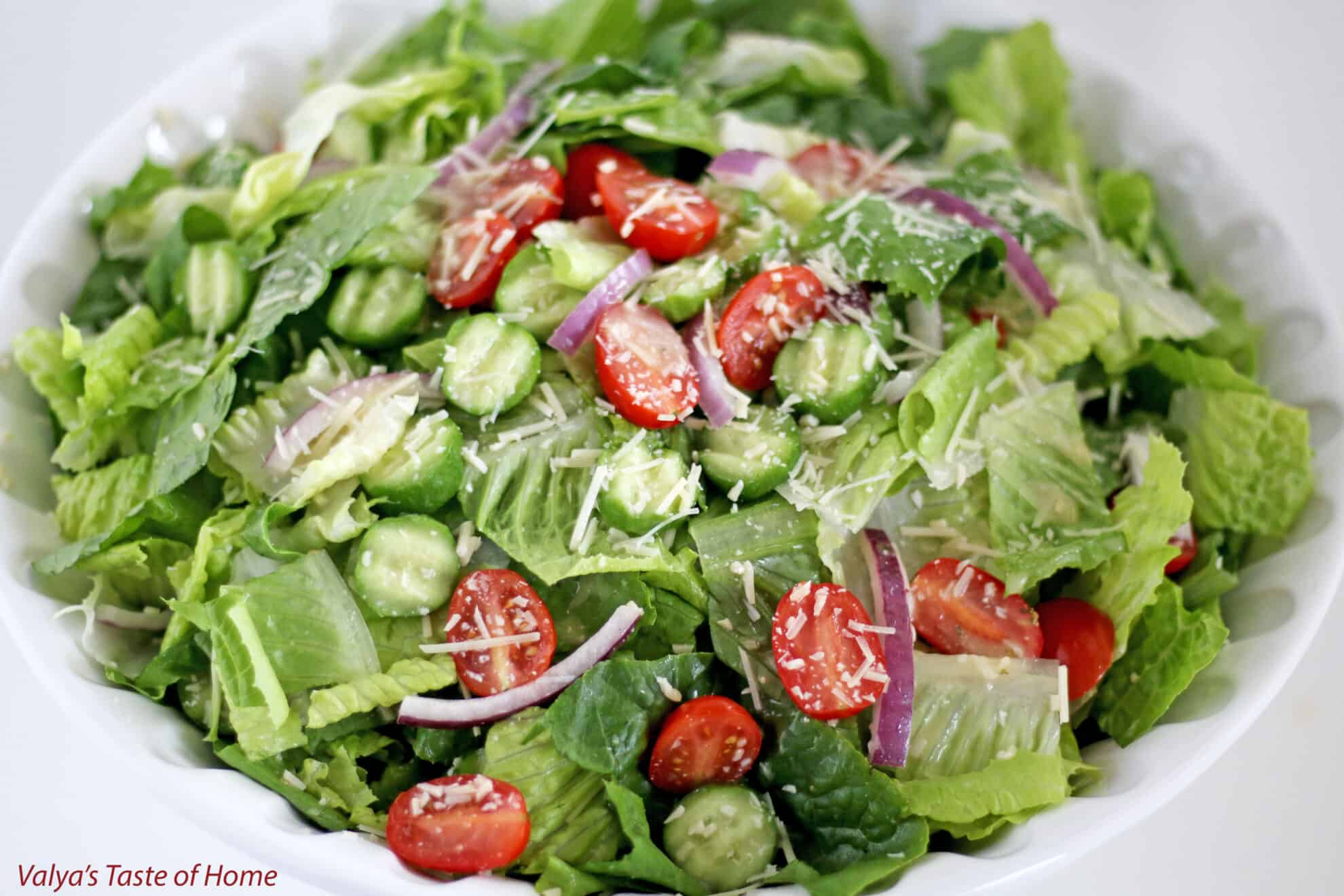 hearts of romaine salad recipe giveaway - Garden Salad Recipe