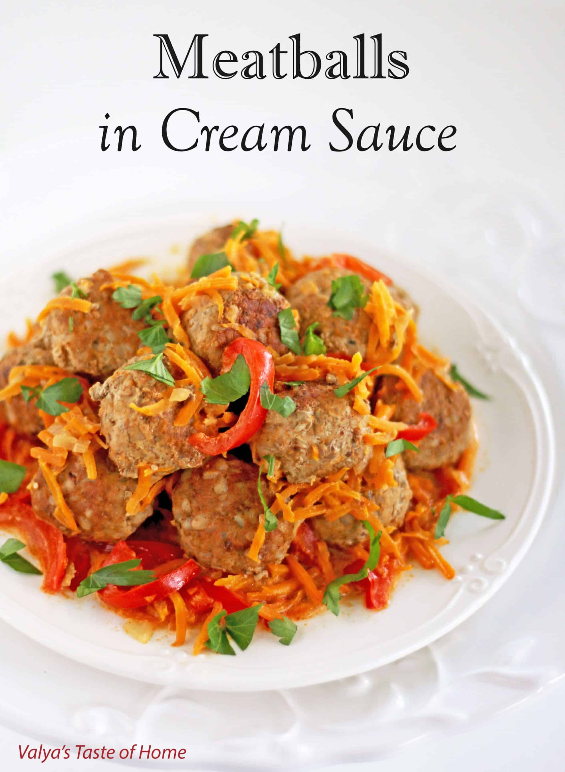 Buckwheat Meatballs in Cream Sauce