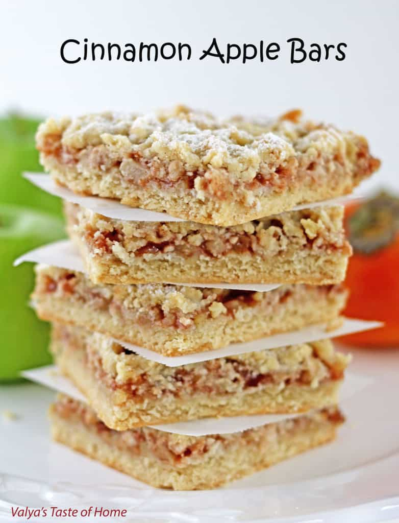 Cinnamon Apple Bars