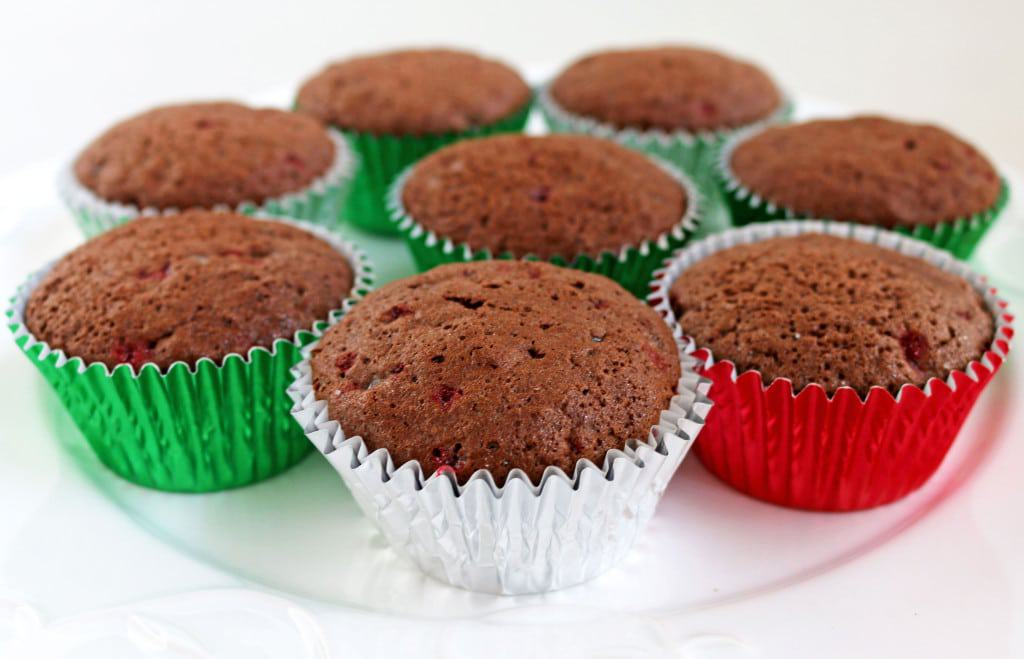 Candy Cane Honey Chocolate Cupcakes + Giveaway