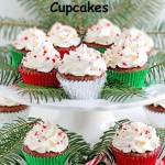 Candy Cane Honey Chocolate Cupcakes