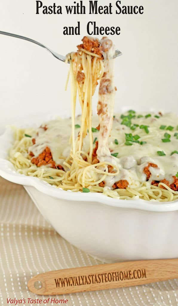 Pasta with Meat Sauce and  Cheese