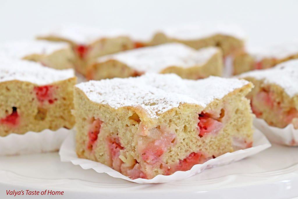 Strawberry Banana Coffee Cake