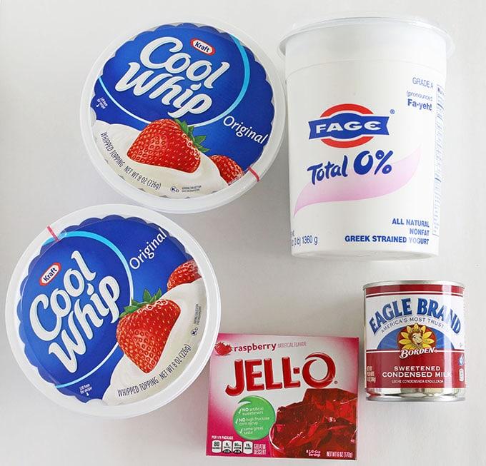 Greek Yogurt Raspberry Jell-O Mousse Dessert