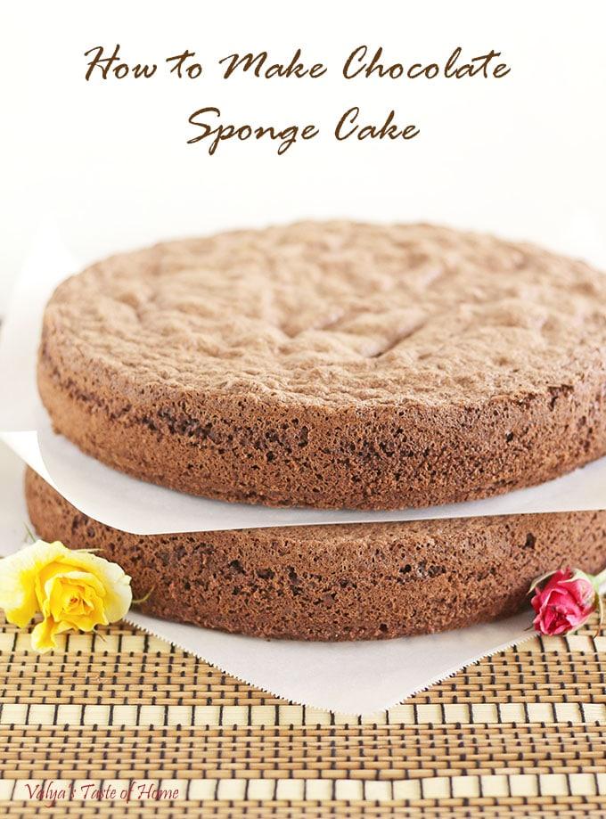 Chocolate Sponge Cake Recipe In Microwave