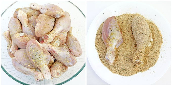 Baked Breaded Chicken Drumsticks