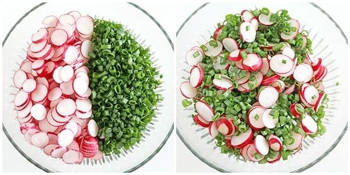 Radish and Chives Salad with Greek Yogurt Dressing