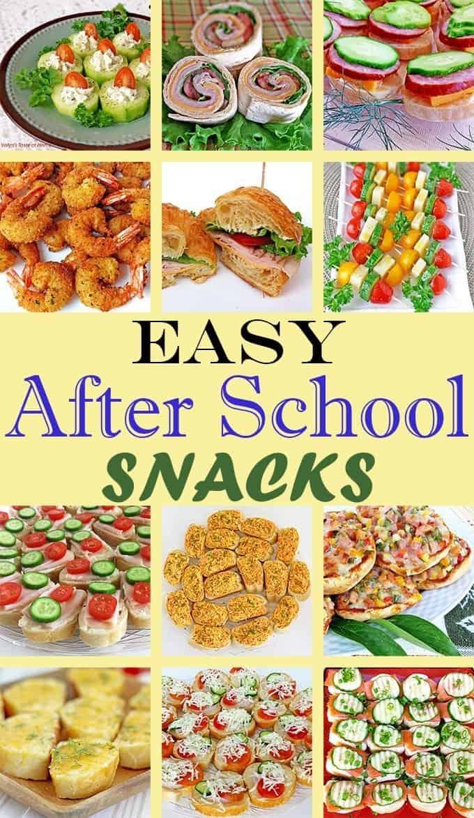 Easy After School Snacks