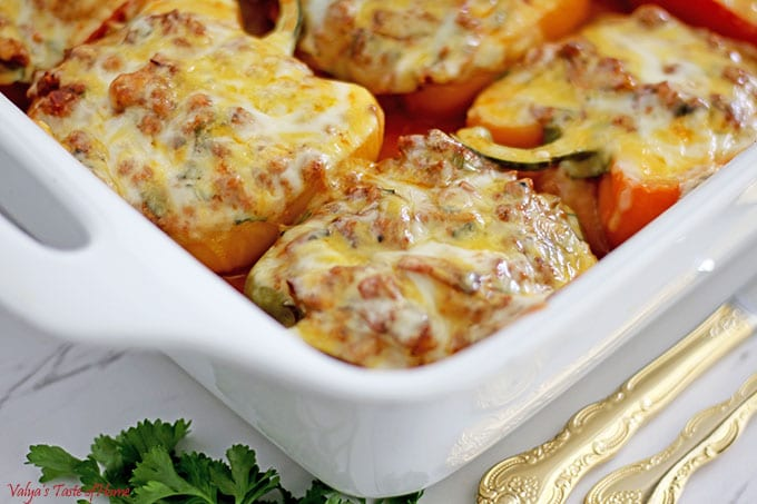 Cheesy Stuffed Bell Peppers