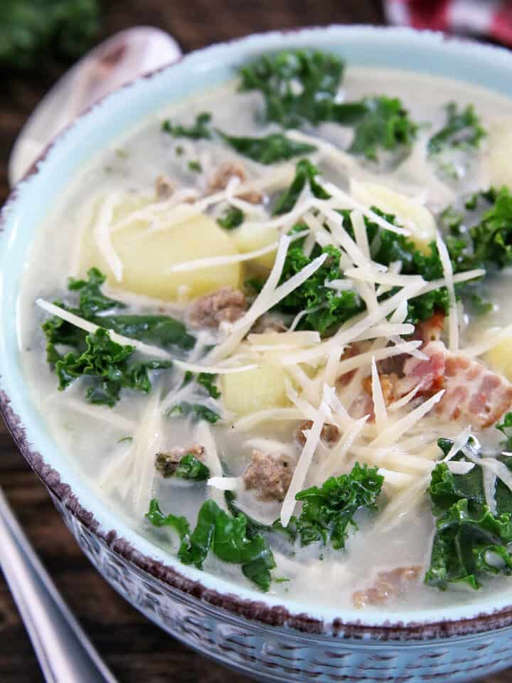 Everyone's homemade recipes for Zuppa are pretty similar, but this recipe is The Best Zuppa Toscana Soup with Homemade Sausage - according to my picky little eaters.