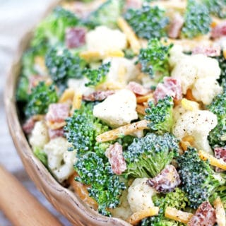 Broccoli and Cauliflower Salad Recipe