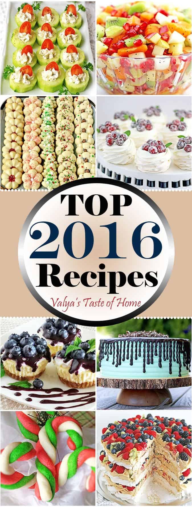 Top 2016 Recipes