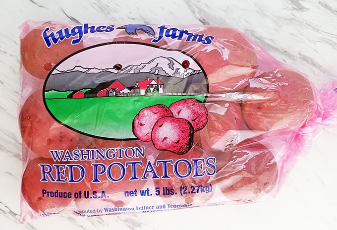 Seasoned Baked Red Potato Wedges